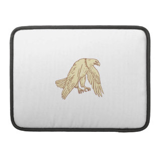 Bald Eagle Flying Wings Down Drawing Sleeve For MacBooks