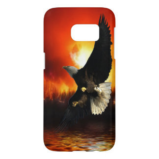 Bald Eagle & Forest Fire Samsung Case