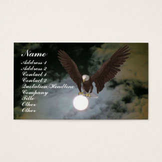 Bald Eagle Full Moon Fantasy Business Card