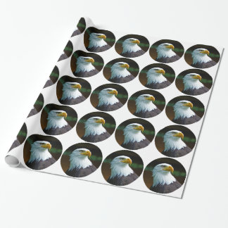 Bald Eagle Head 001 02.1 rd Wrapping Paper
