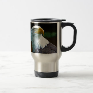 Bald Eagle Head Travel Mug