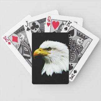 Bald Eagle Headshot Photo Bicycle Playing Cards