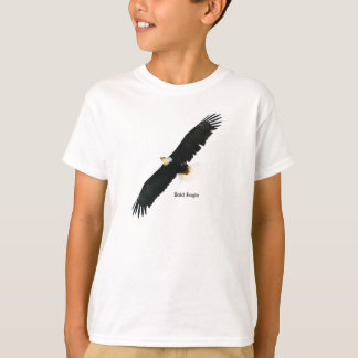 Bald Eagle image for Kids'-T-Shirt-White T-Shirt