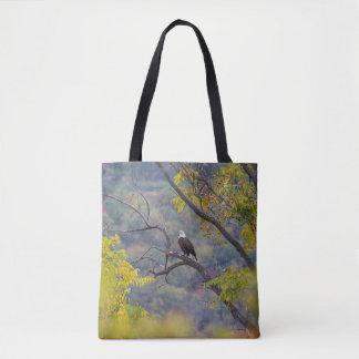 Bald Eagle in Autumn Tote Bag