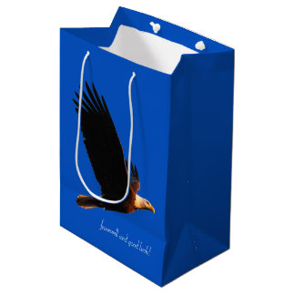 Bald Eagle in Flight Farewell and Good Luck! Medium Gift Bag