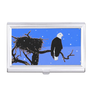 Bald Eagle in Winter Business Card Holder