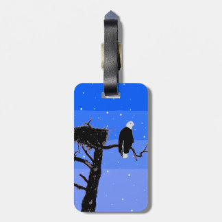 Bald Eagle in Winter Luggage Tag