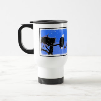 Bald Eagle in Winter Travel Mug