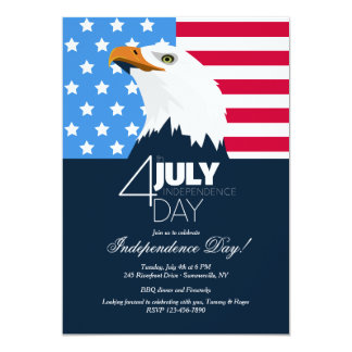Bald Eagle Independence Day Invitation