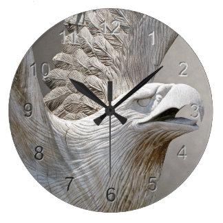 Bald Eagle Large Clock