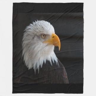 Bald Eagle Large Fleece Blanket