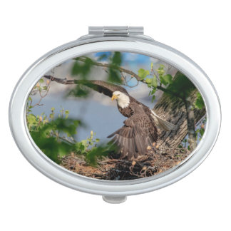 Bald Eagle leaving the nest Makeup Mirror