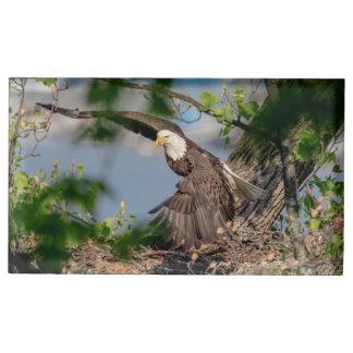 Bald Eagle leaving the nest Table Number Holder