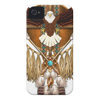 Bald Eagle Mandala - revised iPhone 4 Case-Mate Case