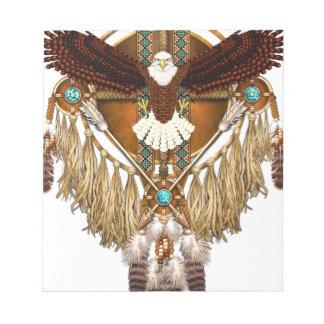 Bald Eagle Mandala - revised Notepad