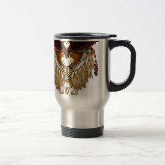 Bald Eagle Mandala - revised Travel Mug