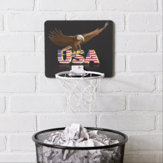 Bald eagle mini basketball hoop