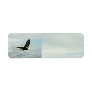 Bald Eagle & mountains Return Address Label