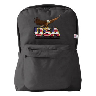 Bald eagle on the flag backpack