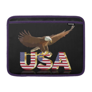 Bald eagle on the flag MacBook sleeve