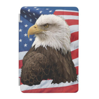 Bald Eagle on US Flag Patriotic Wildlife Photo iPad Mini Cover