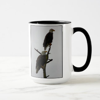 bald eagle pair in the rain mug