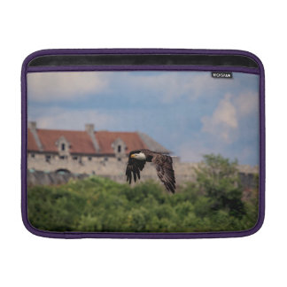 Bald Eagle passing Fort Ticonderoga Sleeve For MacBook Air