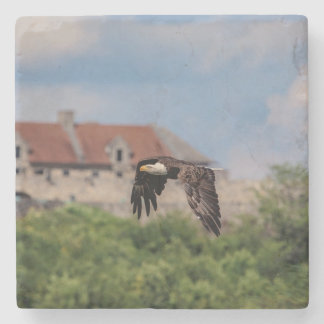 Bald Eagle passing Fort Ticonderoga Stone Coaster