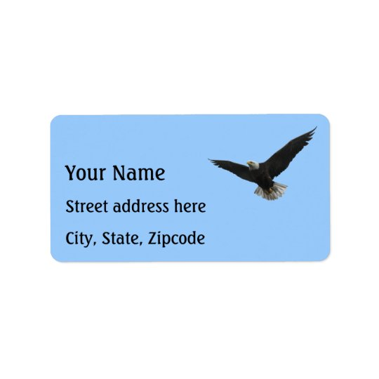 Bald Eagle Patriotic Address Label