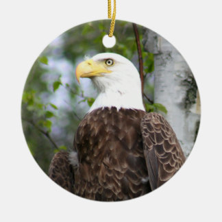 Bald Eagle Photography With Bible Verse Round Ceramic Decoration