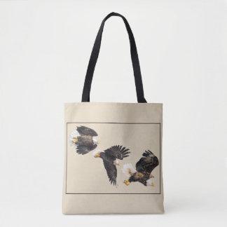 Bald Eagle Triple Flight Tote Bag