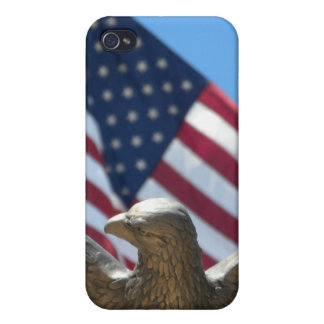 Bald Eagle & US Flag iPhone 4/4S Cases