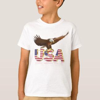 Bald eagle Usa flag T-Shirt