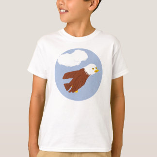 Bald Eagle Whimsical Cartoon Art T-Shirt