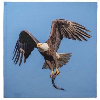 Bald Eagle with a fish Napkin