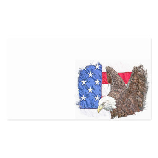 Bald Eagle with the American Flag Business Card
