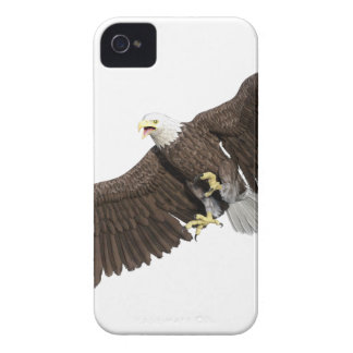 Bald Eagle with wings on down stroke iPhone 4 Case-Mate Case