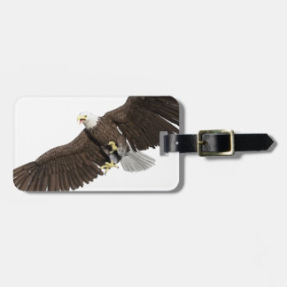 Bald Eagle with wings on down stroke Luggage Tag