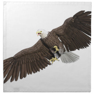 Bald Eagle with wings on down stroke Napkin