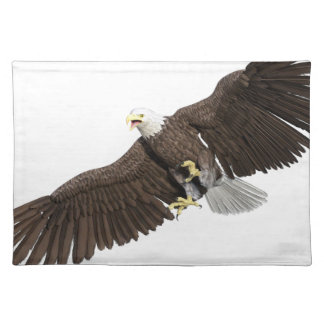 Bald Eagle with wings on down stroke Placemat