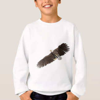 Bald Eagle with wings on down stroke Sweatshirt