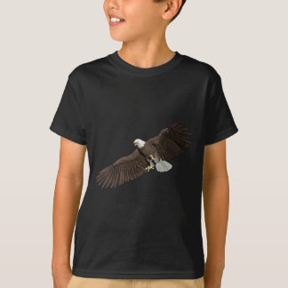 Bald Eagle with wings on down stroke T-Shirt
