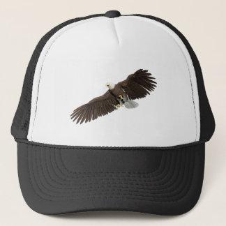 Bald Eagle with wings on down stroke Trucker Hat