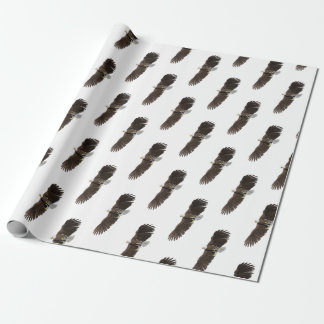 Bald Eagle with wings on down stroke Wrapping Paper