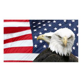 Bald eagles American flag profile card Business Cards