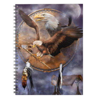 Bald Eagles, Dreamcatcher and Feathers Notebook