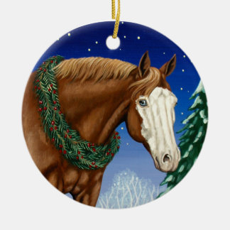 Bald Face Horse Holiday Ornament