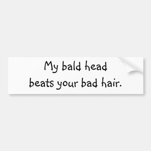 Bald Head Bumper Sticker