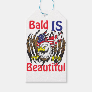 Bald is Beautiful  - style 3 Gift Tags