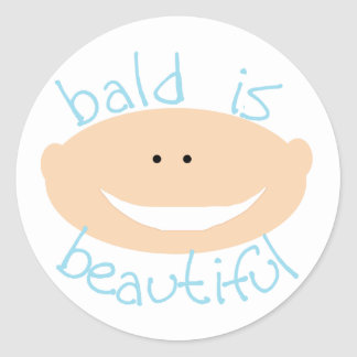 Bald is Beautiful Tshirts and Gifts Classic Round Sticker